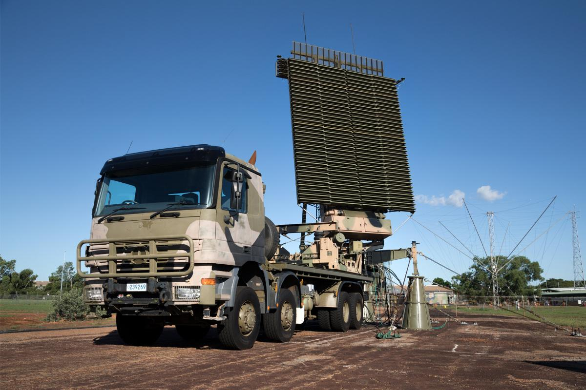 A No. 114 Mobile Control and Reporting Unit AN/TPS-77 Tactical Air Defence Radar System on display during a unit family day held at RAAF Base Darwin, NT.