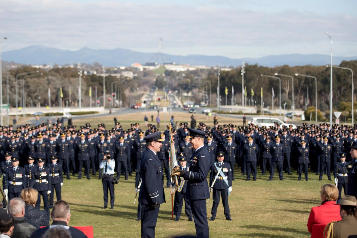 Transfer of Command parade in Canberra.
