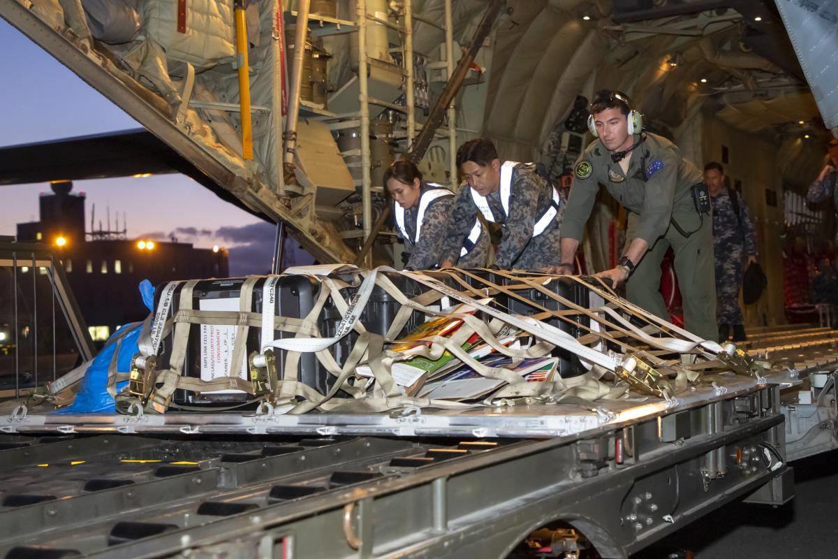 The ability to deploy 140 personnel, six fighter jets and 61,000kg of cargo across the globe to Japan would not be possible without the heavy airlift muscle of Air Mobility Group.