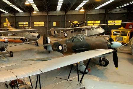 The aircraft display hangar at RAAF Museum, Point Cook.