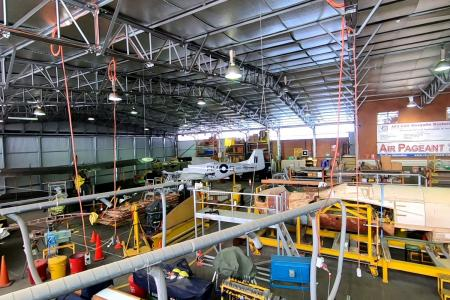 The restoration hangar at the RAAF Museum, Point Cook.