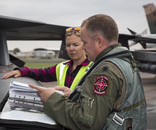 For three weeks during Exercise Diamond Shield there was a battle to dominate the airspace off the coast of Newcastle involving Australian and United States fighter jets.